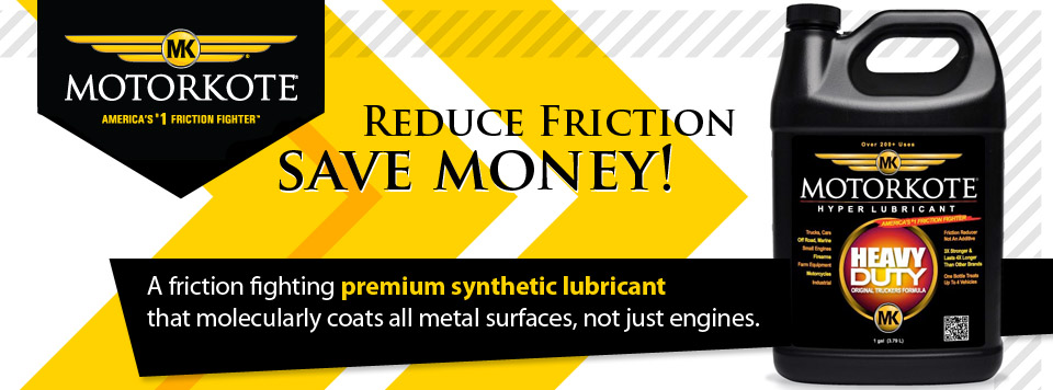 MotorKote Hyper Lubricant - Fight Friction - Save Money!